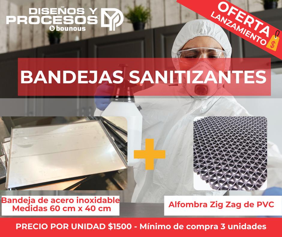 BANDEJAS SANITIZANTES DE INGRESO